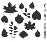 silhouette of tree leaves.... | Shutterstock .eps vector #1088247296
