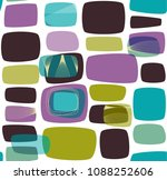 abstract retro background  teal ... | Shutterstock .eps vector #1088252606