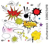 comic speech bubbles. vector | Shutterstock .eps vector #108825698