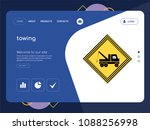 quality one page towing website ... | Shutterstock .eps vector #1088256998