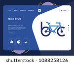 quality one page bike club... | Shutterstock .eps vector #1088258126