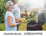 in summer. a nice couple... | Shutterstock . vector #1088264948