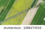 aerial landscape  road between... | Shutterstock . vector #1088274533