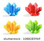 mineral crystal gemstone | Shutterstock .eps vector #1088285969