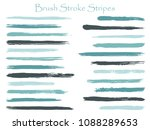 decorative ink brush stroke... | Shutterstock .eps vector #1088289653
