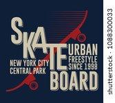 skateboarding t shirt graphic... | Shutterstock .eps vector #1088300033
