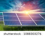 solar panel  photovoltaic ... | Shutterstock . vector #1088303276