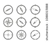 set of monochrome icons with... | Shutterstock .eps vector #1088315888