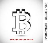 bitcoin vector icon  stock... | Shutterstock .eps vector #1088317730