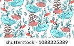 vector seamless pattern... | Shutterstock .eps vector #1088325389