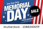 memorial day sale banner layout ... | Shutterstock .eps vector #1088340059