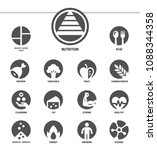nutrition icon set inverse flat ... | Shutterstock .eps vector #1088344358