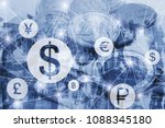 money exchange concept  symbols ... | Shutterstock . vector #1088345180