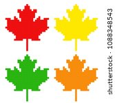 symbol of canada maple leaf....   Shutterstock .eps vector #1088348543