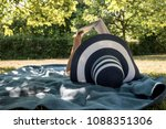 woman lying on a rug in the... | Shutterstock . vector #1088351306