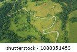aerial landscape  road between...   Shutterstock . vector #1088351453