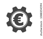 gear cog with an euro coin... | Shutterstock .eps vector #1088354594