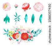 wedding watercolor set | Shutterstock . vector #1088357450