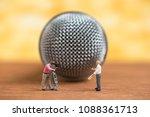 miniature people speak to... | Shutterstock . vector #1088361713