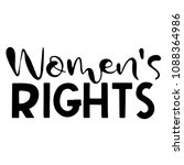womens rights. the inscription... | Shutterstock .eps vector #1088364986