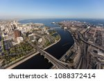 aerial view of the end of the... | Shutterstock . vector #1088372414