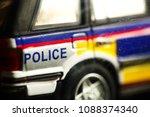 miniature plastic police car...   Shutterstock . vector #1088374340