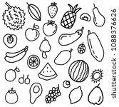 fruit doodle element | Shutterstock .eps vector #1088376626
