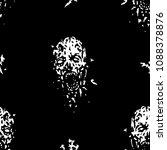 cruel zombie head pattern.... | Shutterstock .eps vector #1088378876