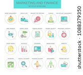 marketing and finance. set of... | Shutterstock .eps vector #1088379350