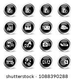money symbols vector icons  ... | Shutterstock .eps vector #1088390288
