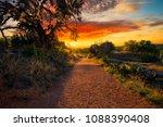 Small photo of Sunrise on Enchanted Rock