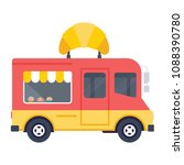 a vector food cart with a... | Shutterstock .eps vector #1088390780