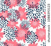 seamless repeat pattern with... | Shutterstock .eps vector #1088393123