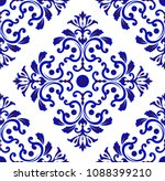 wallpaper in baroque style... | Shutterstock .eps vector #1088399210
