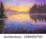Acrylic Painting Blue Violet...