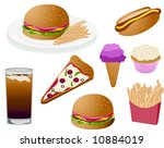 fast food icons   Shutterstock .eps vector #10884019