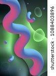 dark green vertical template... | Shutterstock . vector #1088403896