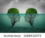 sinking relationship and dying... | Shutterstock . vector #1088410373