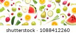 various vegetables and fruits... | Shutterstock . vector #1088412260