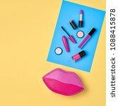cosmetic minimal makeup set.... | Shutterstock . vector #1088415878