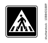 pedestrian crossing sign. black ... | Shutterstock .eps vector #1088431889