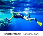 Child Scuba Diver With Group...