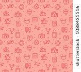 travel seamless pattern... | Shutterstock .eps vector #1088435516