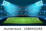 soccer game vector stadium.... | Shutterstock .eps vector #1088443283