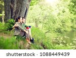 travel  tourism  hike  camping... | Shutterstock . vector #1088449439