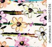 floral seamless pattern... | Shutterstock .eps vector #1088455256