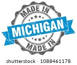 made in michigan round seal | Shutterstock .eps vector #1088461178