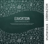 education infographic with hand ...   Shutterstock .eps vector #1088462534