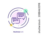 finance discussion line art... | Shutterstock .eps vector #1088463398