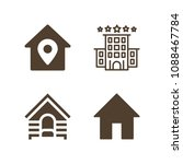 home related set of 4 icons... | Shutterstock .eps vector #1088467784